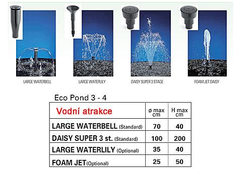 Ecopond příslušenství - vodní atrakce